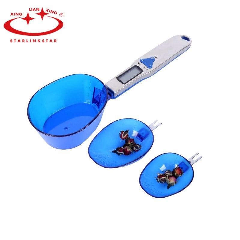 Básculas de cocina de 500g/01g, herramientas de cocina, báscula de comida Digital LCD, cuchara electrónica portátil, cuchara de escala, pesas, herramienta de pastel