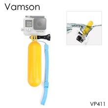 Vamson para gopro acessórios monopod selfie vara flutuante bobber aperto de mão alça de pulso para gopro hero 5 4 3 + para xiaomi vp411