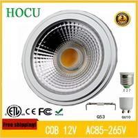 Free Shipping 12W LED Bulb COB LED Spot Light Ar111 g53 E27 GU10 led lamp 85-265v