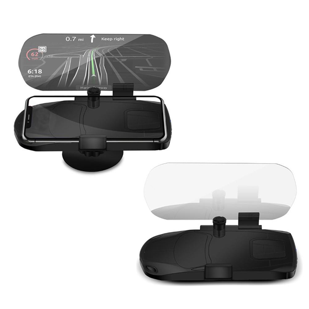 Soporte de navegación HUD Universal para Gps soporte de teléfono móvil pantalla grande HD proyector de reflexión Tomtom
