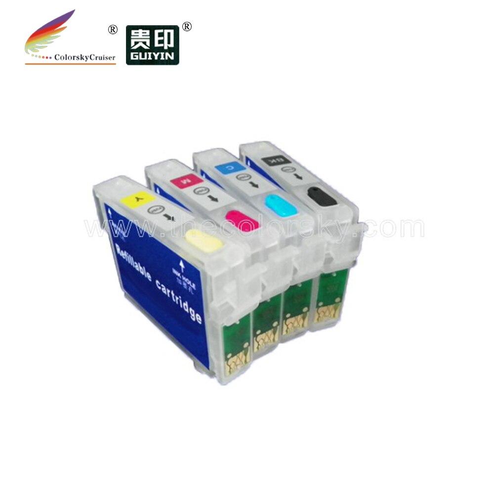 (RCE1431) rellenable repuesto cartucho de tinta para Epson T1431 T1432 T1433 T1434 T143 T 143 BKCMY (con arco chip)