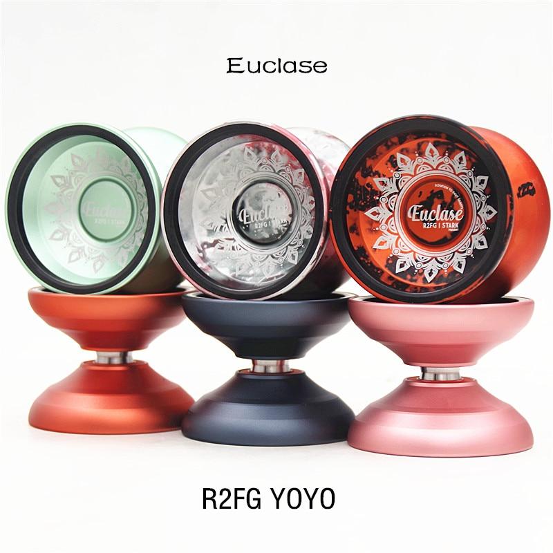 R2FG YOYO STRAK Euclase YOYO 6061 + SS anillo interno de metal yoyo para reproductor profesional