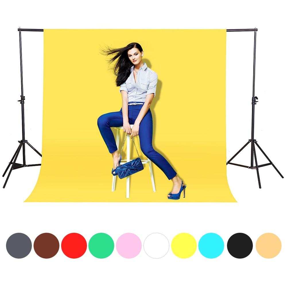 CY en stock 1,6x3m amarillo algodón no tejido textil muselina foto fondos estudio fotografía pantalla Chromakey telón de fondo