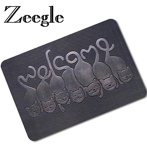 Zeegle 3D домашний коврик для ног смешной коврик резиновые напольные коврики Нескользящие напольный коврик для гостиной прикроватные коврики ...