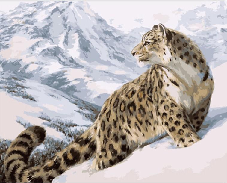 Leopardo 21191-láminas de manualidades con pintura por números