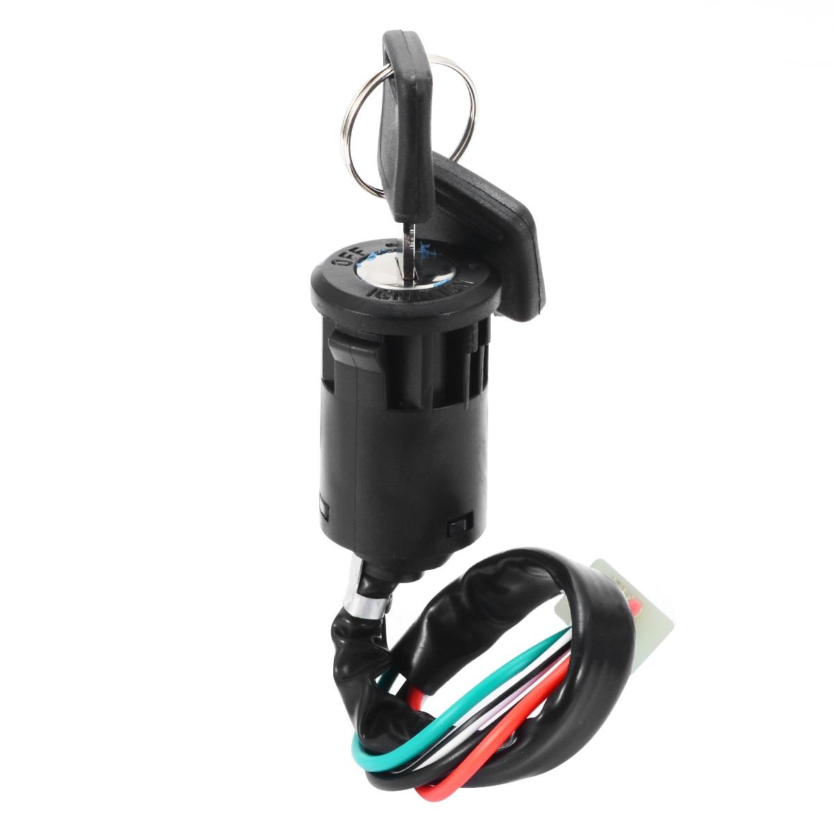 Para ATV Quad Dirt Bike 1pc 4 cables interruptor de arranque de cuatriciclos + llaves soporta 50 70 90 110 125 150 200 250CC modelo Mayitr