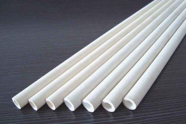 Tubo de corindón de alta resistencia térmica 99.5% Al2O3 OD60 * ID50mm/cerámica aislante para sensores de termopares/tubo redondo de alúmina de cuatro orificios