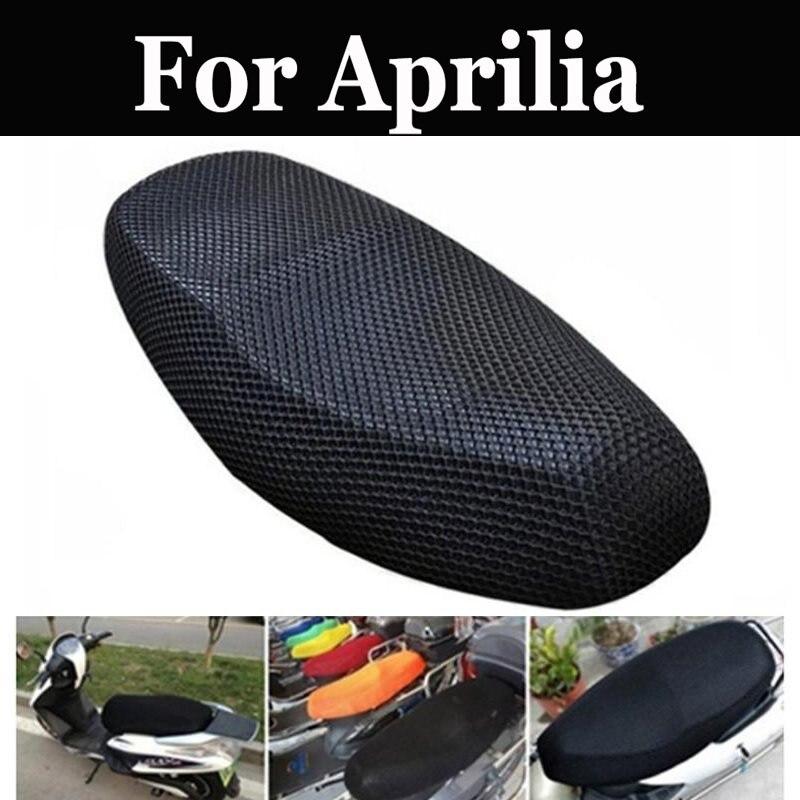 Motocicleta de malla impermeable transpirable cubierta de asiento M de red de malla Scooter para Aprilia Scarabeo 500 Shiver 750gt Sm750 Srv 850