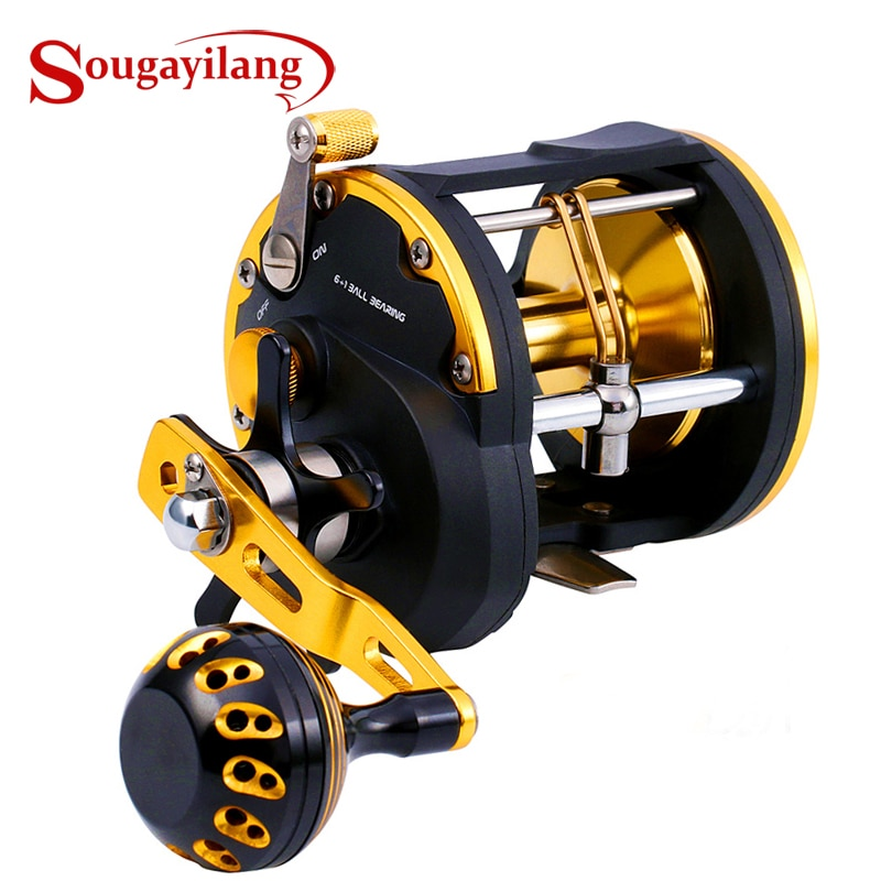 Sougayilang عالية قوية التصيد الصيد بكرة المياه المالحة البحر الطعم صب بكرات الصيد الغزل بكرة التصيد بكرة ماكس السحب 30 كجم