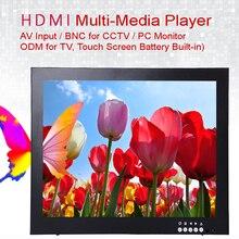 12 дюймов 1024X768 HD монитор видеонаблюдения с металлическим корпусом и HDMI VGA AV BNC разъем для ПК мультимедиа монитор дисплей микроскоп и т. Д.
