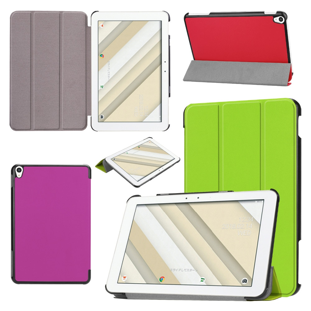 Funda de cuero PU con soporte magnético ligero ultrafino para Tablet QZ10 de 10,1 pulgadas de Kyocera au Qua tab