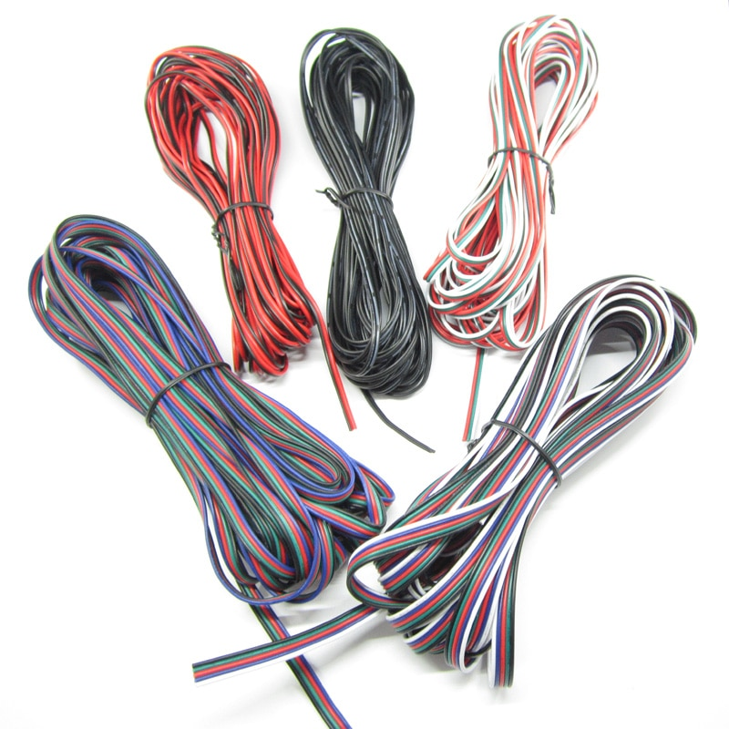 2Pin 3Pin 4Pin 5Pin 1M 5M 10M 18AWG 20AWG 22AWG eléctrico Cable...