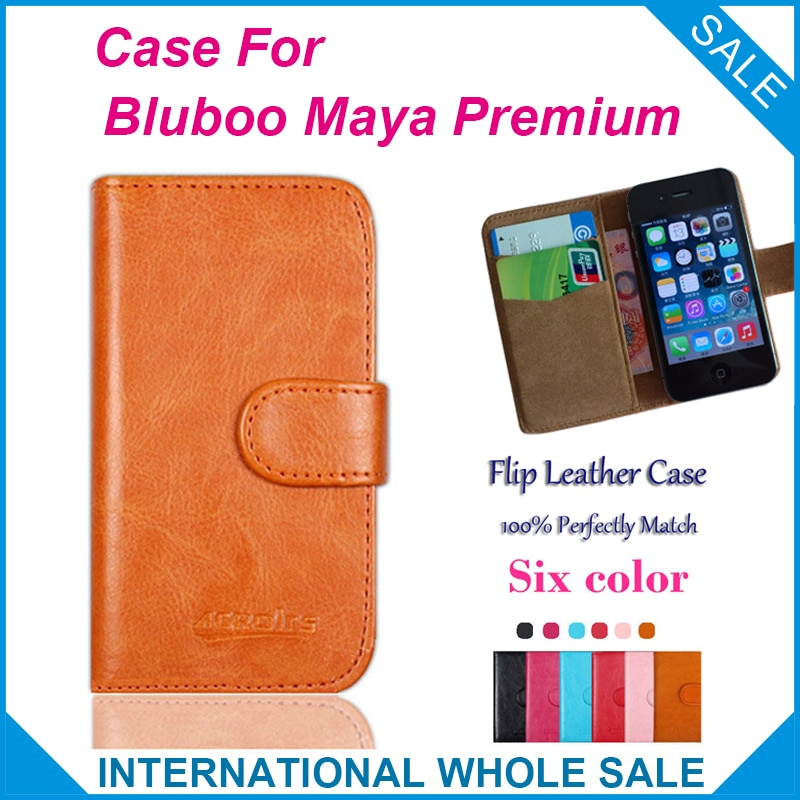 Hot!! 2016 Bluboo Maya Premium Case, 6 Colors High Quality Leather Exclusive Cover For Bluboo Maya Premium Case tracking number