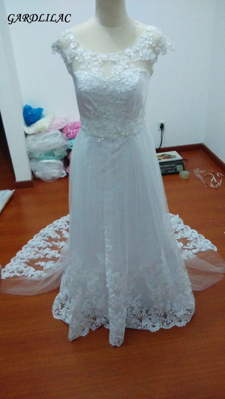 New A-line Lace Plus Size Wedding Dresses 2019 Sample Bridal Gown Vestido de noiva