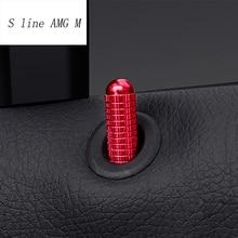 Estilo de coche para Mercedes Benz A B GLA CLA clase W176 X156 C117 pin de puerta decoración pegatinas embellecedor Interior Auto Accesorios
