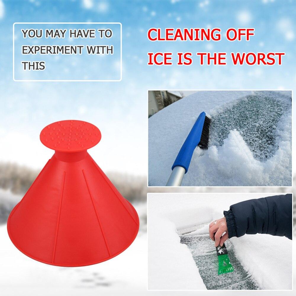 Pala mágica extraíble con forma de cono para exteriores, ventana de invierno, parabrisas, raspador de hielo para coche, embudo, raspador de hielo, eliminación de pala