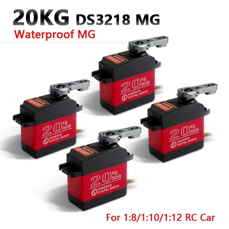 4 قطعة للماء مضاعفات DS3218 تحديث و برو عالية السرعة ميتال جير الرقمية مضاعفات باجا مضاعفات 20 كجم/.09S ل 1/8 1/10 مقياس RC سيارات