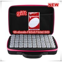 Новый 30 или 60 бутылок коробка для алмазной живописи ящик для хранения инструментов для хранения Чемодан кронштейн Сумки из натуральной кож...