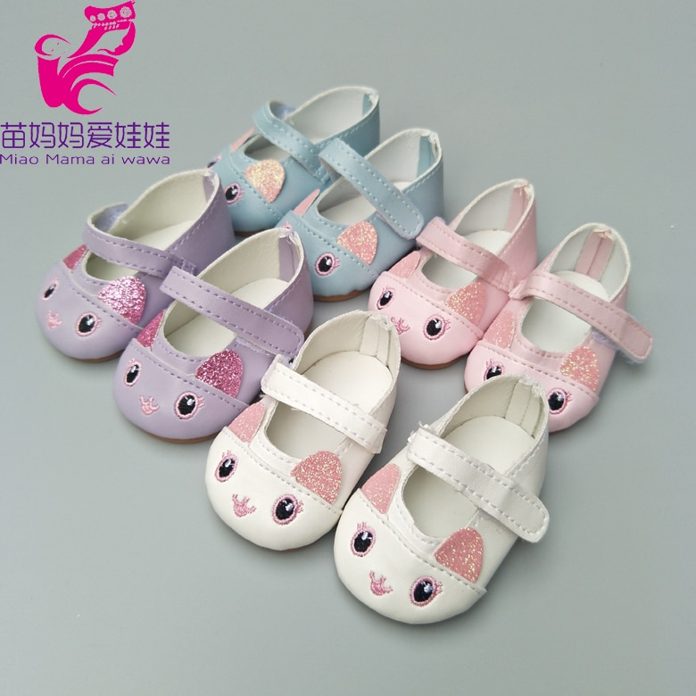 mini doll shoes for 43cm born baby Doll for Reborn Baby Doll shoes 18 inch girl doll cute princess shoes недорого