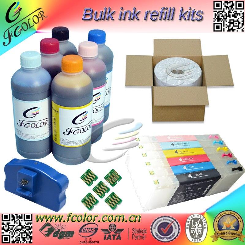 Kits de recarga de tinta especial para Epson D700, cartucho de tinta UV, tinta de tinte, papel fotográfico, proveedor de una parada