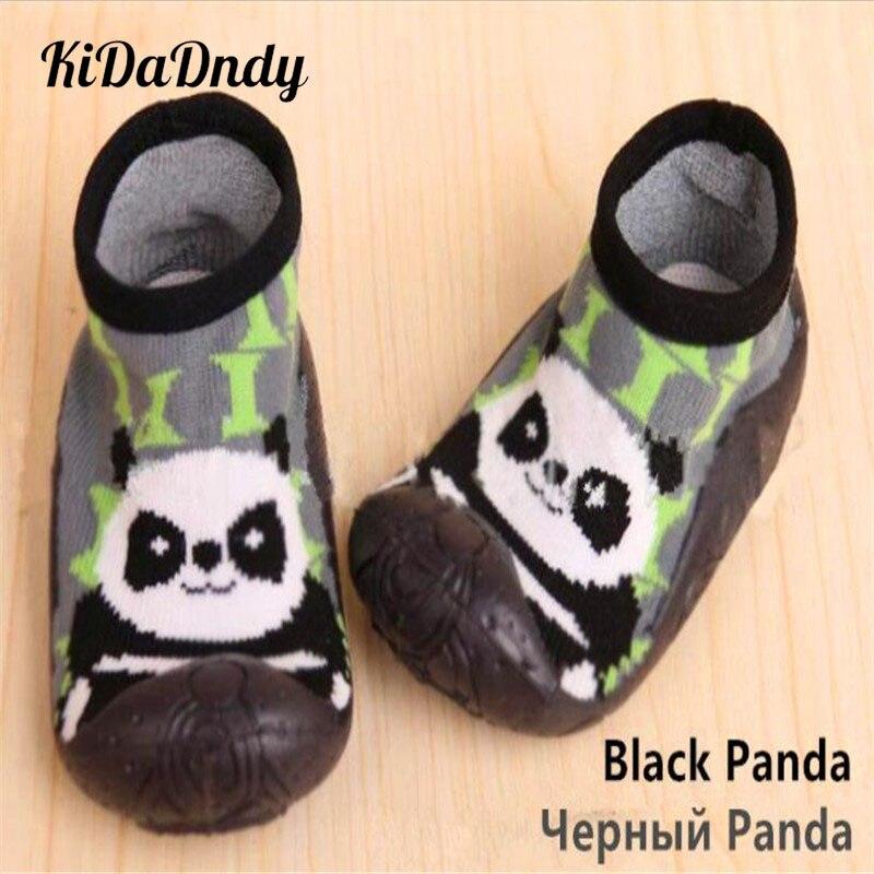 Kidadndy 0-2Y recién nacido antideslizantes calcetines de bebé con Toddle goma suelas Calcetines niños zapatos algodón suelo calcetín bebé LMY235
