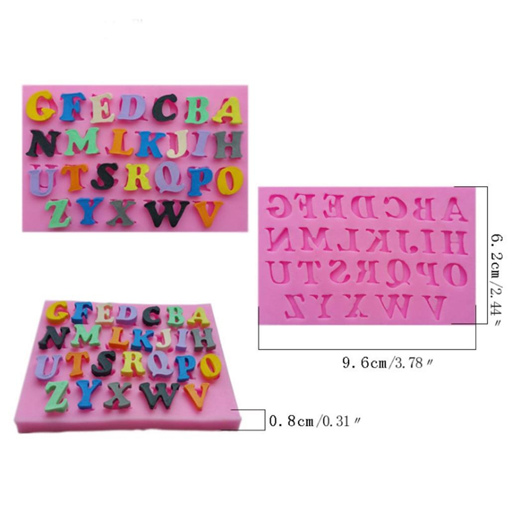 ZMHEGW 1PC silicona de grado de alimentos molde Fondant molde de pastel de Chocolate de decoración para hornear carta molde herramienta de cocina herramienta para postres #1975