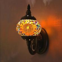 Artpad Vintage verre turc mosaïque lampes à la main chambre étude salon couloir porche allée E14 turc lampe sur le mur