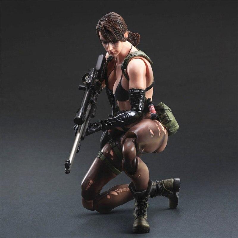 [Divertido] Original caja de 25cm juegos Kai 1/6 Escala de Metal Gear Solid 5 el dolor fantasma tranquilo veneno serpiente PA PVC figura de acción