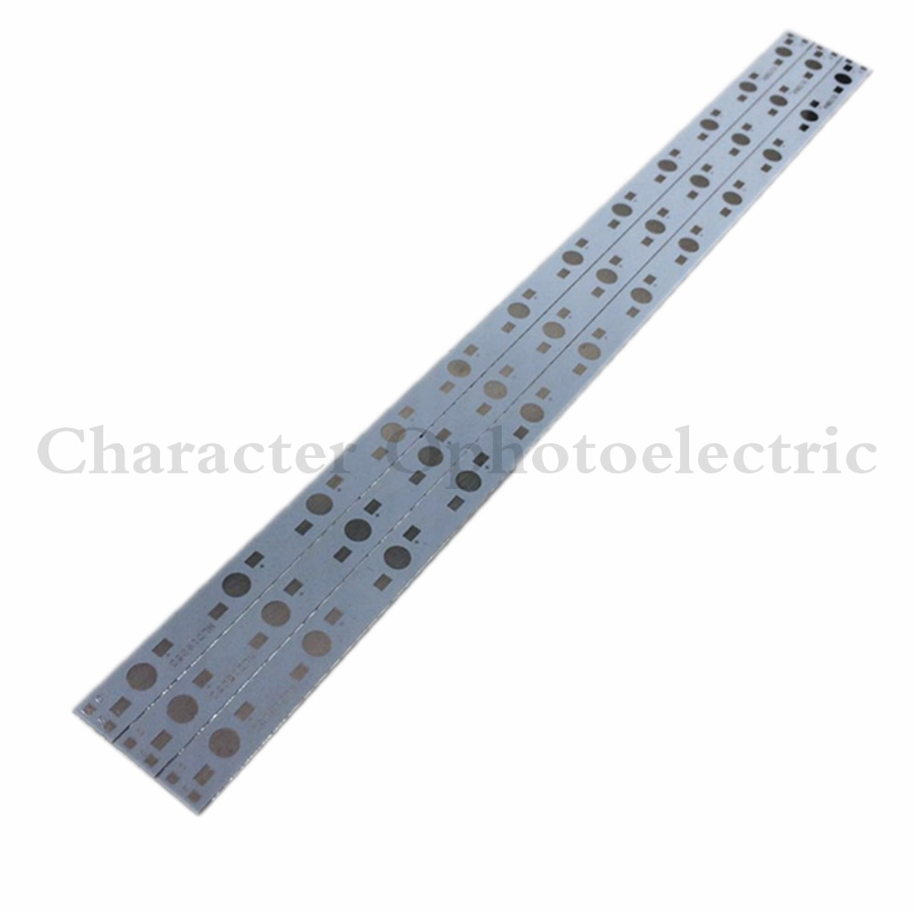 10pcs 30CM x 1CM Aluminium PCB Circuit Board for 12 x 1w,3w,5w LED in Series 10pcs 20 20mm 2m round led channel cable hidden with pendant rope led aluminium profile for 12mm pcb board