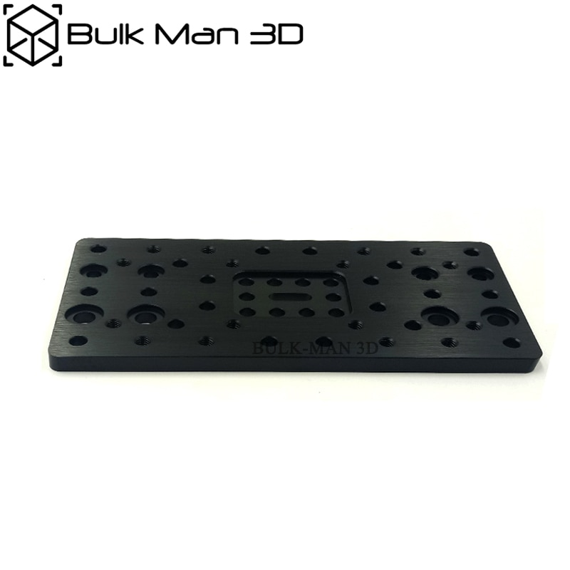 Placa de pórtico de haz en C de aleación de aluminio para impresora 3D-doble ancho para piezas de máquina CNC de haz en C-50 Uds