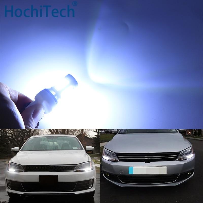 Para volkswagen vw jetta mk6 2011 2012 2013 2014 2015 2016 ultra brilhante branco refletor 1156 s25 lâmpadas led luz diurna drl