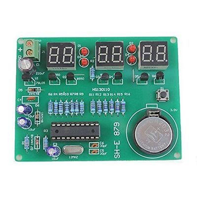 Kit DIY Módulo 9 V-12 V AT89C2051 6 Componentes de piezas de reloj electrónico LED Digital