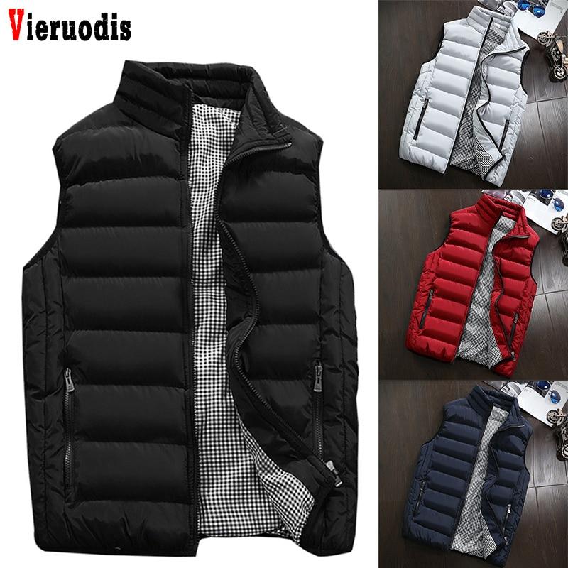 Chaleco de talla grande 5XL para hombre, nuevo chaleco elegante de primavera otoño 2019, cálido chaqueta sin mangas, chaleco de invierno para hombre, abrigos Casuales