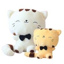 45 CM belle grand visage souriant chat en peluche jouets en peluche doux animaux poupées usine prix le plus bas meilleurs cadeaux pour enfants de haute qualité