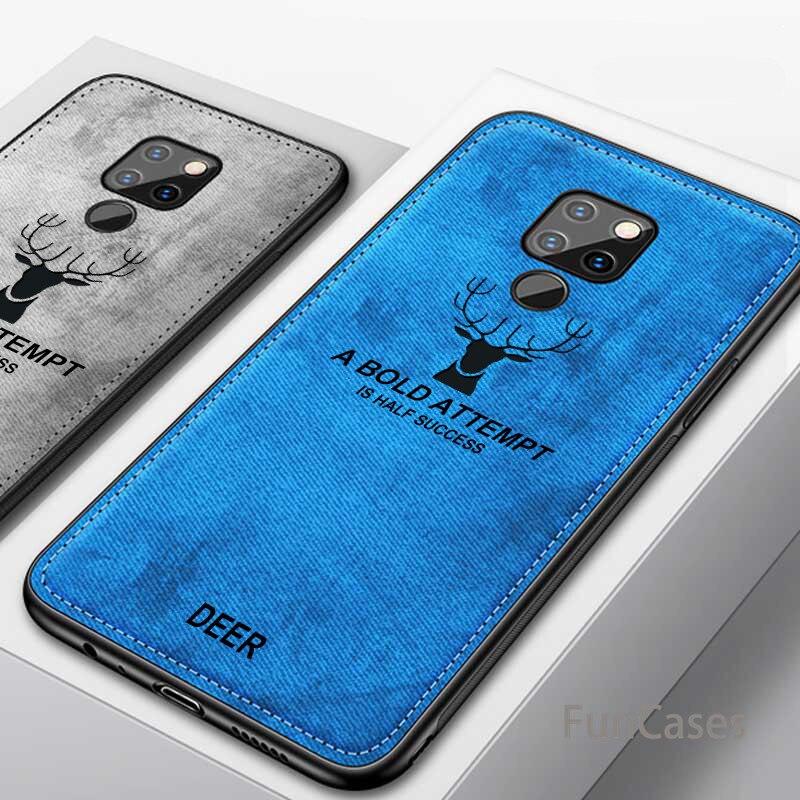 Para Huawei Mate 9 10 20 pro X moda alce patrón silicona TPU paño textura funda para Huawei Mate 10 20 lite Honor 8x.