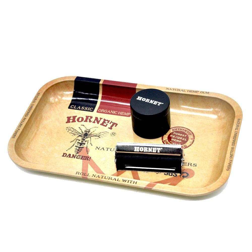 HORNET Herb/Spice/Tobacco Rolling Tray 28.7cm*18.8cm*2cm Handroller Smoking Accessories Rolling Machine Grinder Storage Tray