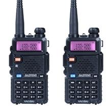 2 adet/grup Baofeng UV-5R Walkie Talkie amatör radyo uv 5r UHF & VHF 136-174MHz & 400- 520MHz 128 CH iki yönlü telsiz 5W HF telsiz