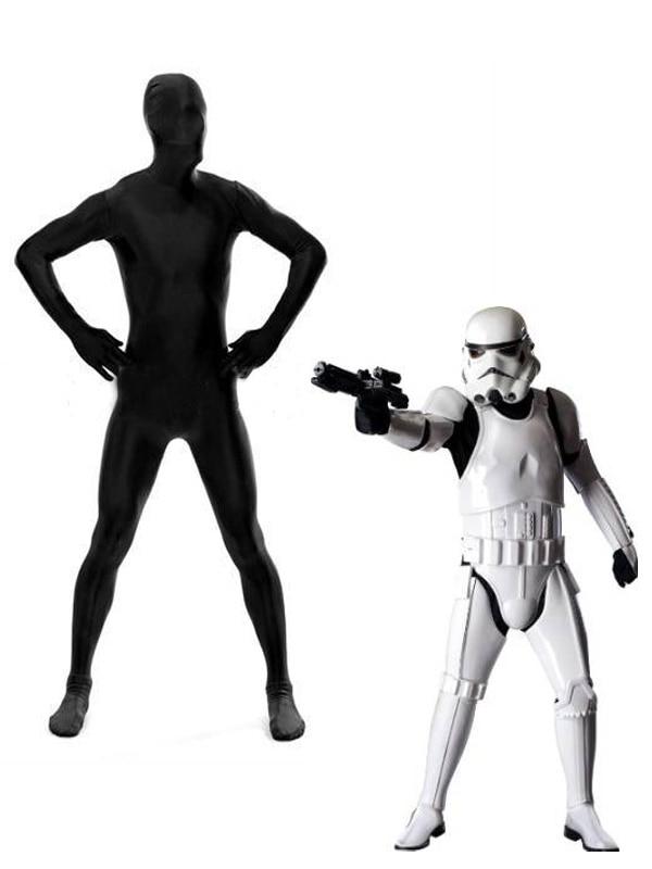 Star Wars Storm Trooper UNDER SUIT Zentai Costume Black Imperial Stormtrooper Suit (Just Black Bodysuit, NO White ARMOUR)