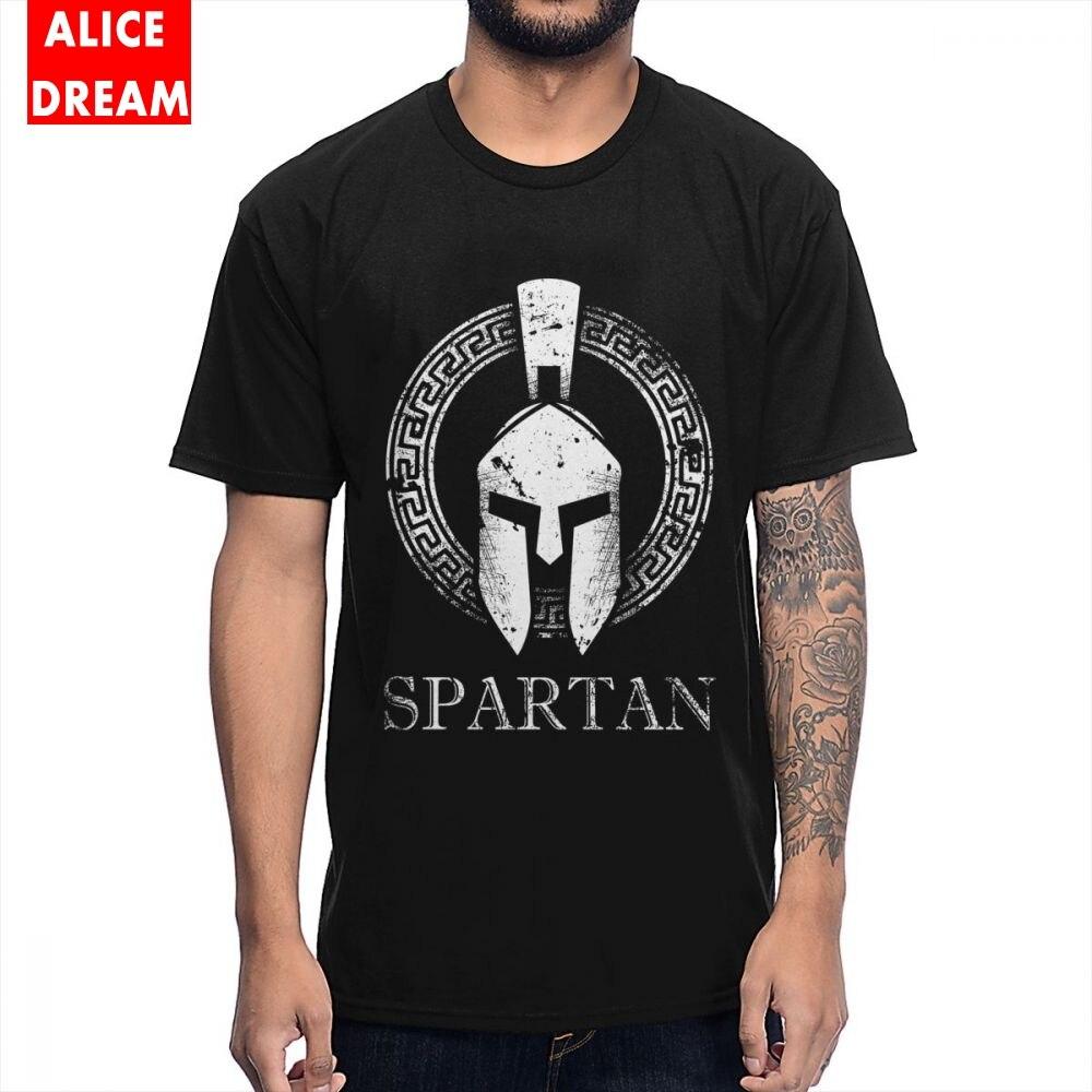 Camisetas con estampado de MenMan 3D Molon Labe Spartan Trojan casco laureles Sparta camiseta de dibujos animados Camiseta de algodón S-6XL talla grande camisa