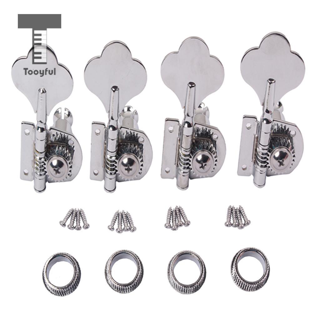 Tooyful 4x baixo tuning peg máquina chave cabeças sintonizador botões 4r para baixo instrumemnt accs