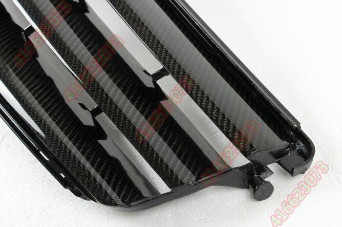 Rejilla de rejilla de fibra de carbono para Mercedes-Benz C W204 Brabus C180 200 220 230 260 280 300 3