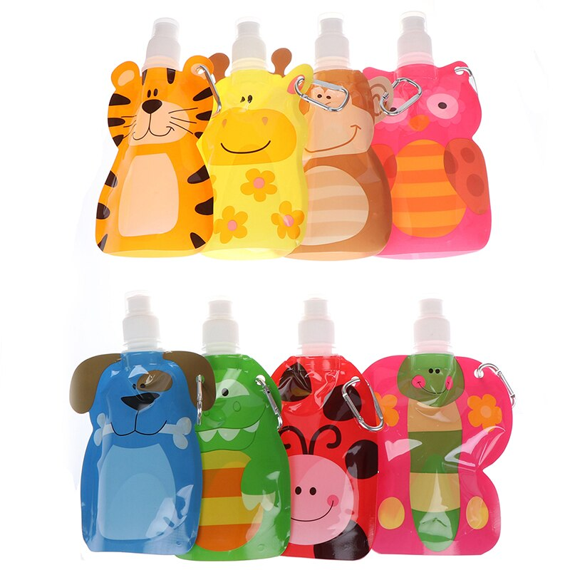Plastic Smoothie Squeeze Bags Refillable Lock Bag 380 ml Reusable Food Pouch Baby Packaging Reusable Squeeze Pouch
