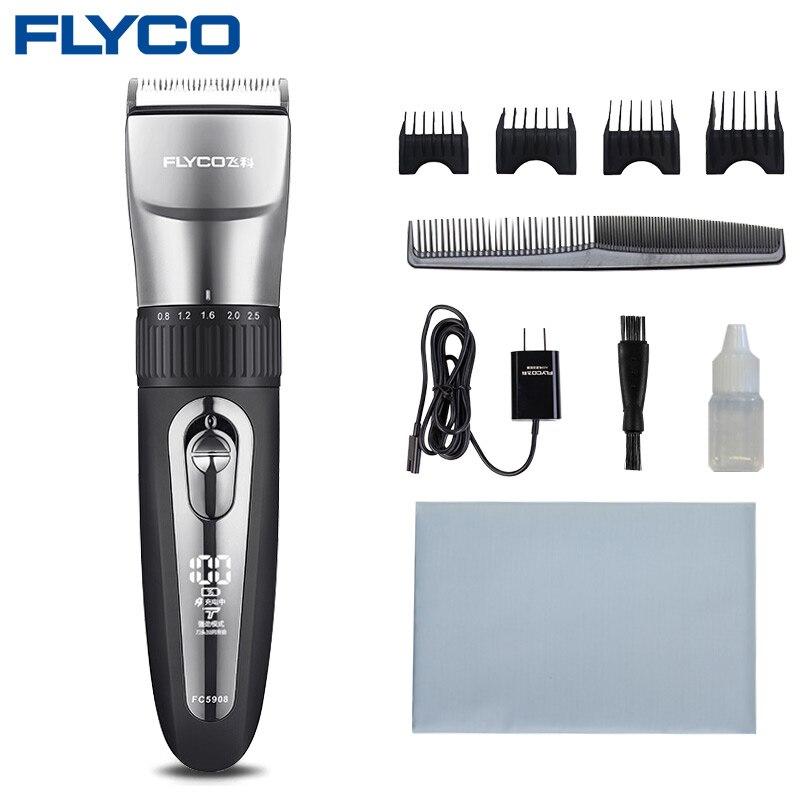 FLYCO-ماكينة قص الشعر الاحترافية ، ماكينة قص الشعر الكهربائية متعددة الوظائف ، مقاومة للماء ، لحلاقة اللحية