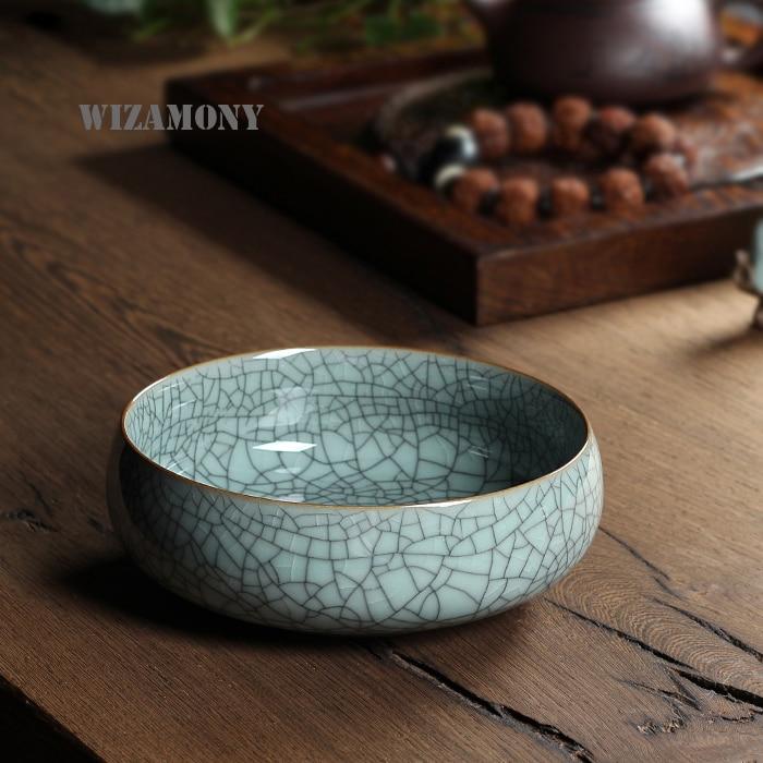أربعة ألوان الصينية كبيرة قدرة 620 مللي صديقة للبيئة الخشخشة الصقيل الشاي غسل الصينية نغتشيوان سيلادون فنجان إبريق الشاي السعر المنخفض