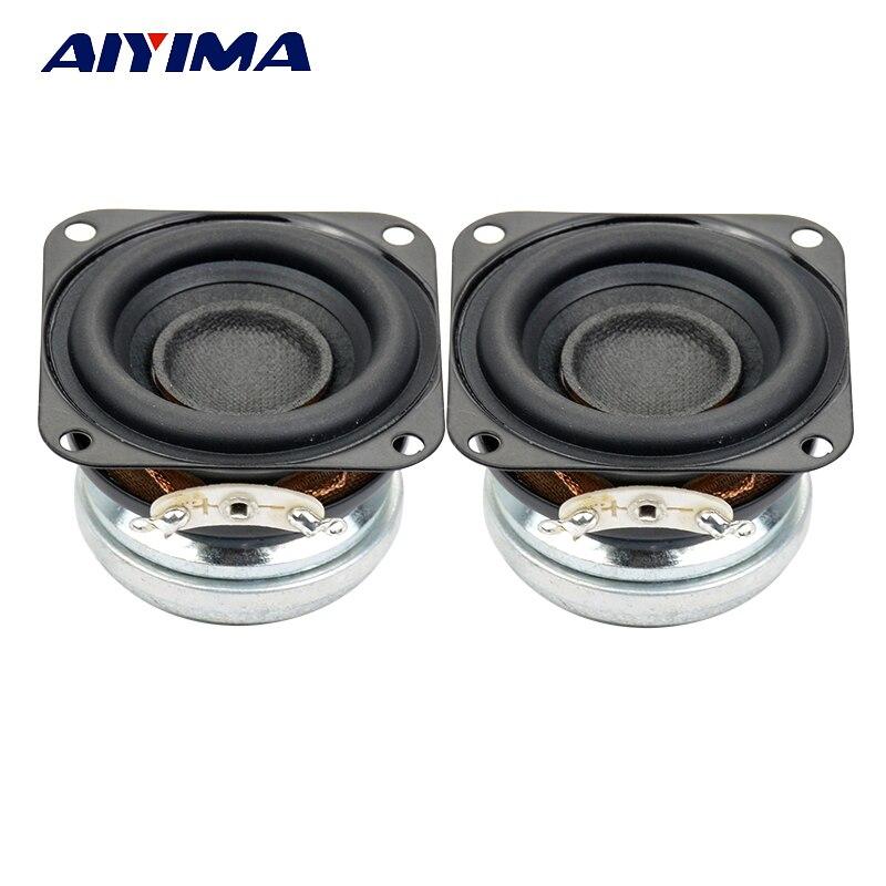 AIYIMA 2 uds 1,5 pulgadas Mini altavoces de Audio portátiles 4 Ohm 10 W de rango completo Fever altavoz DIY para sistema de sonido de Altavoz Bluetooth