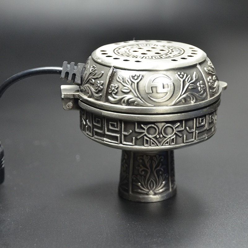 Metall E-Shisha Smokepan Elektronische Shisha Tabak Schüssel mit Keramik Holzkohle Halter Shisha Chicha Nargile Waterpijp Zubehör