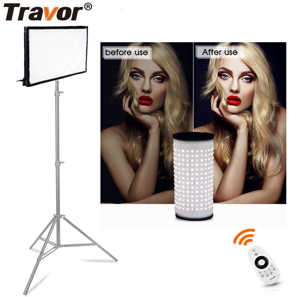 Travor FL-3060 مرنة led فيديو ضوء استوديو ضوء حجم 30*60 سنتيمتر CRI95 5500K مع 2.4G التحكم عن بعد التصوير الإضاءة