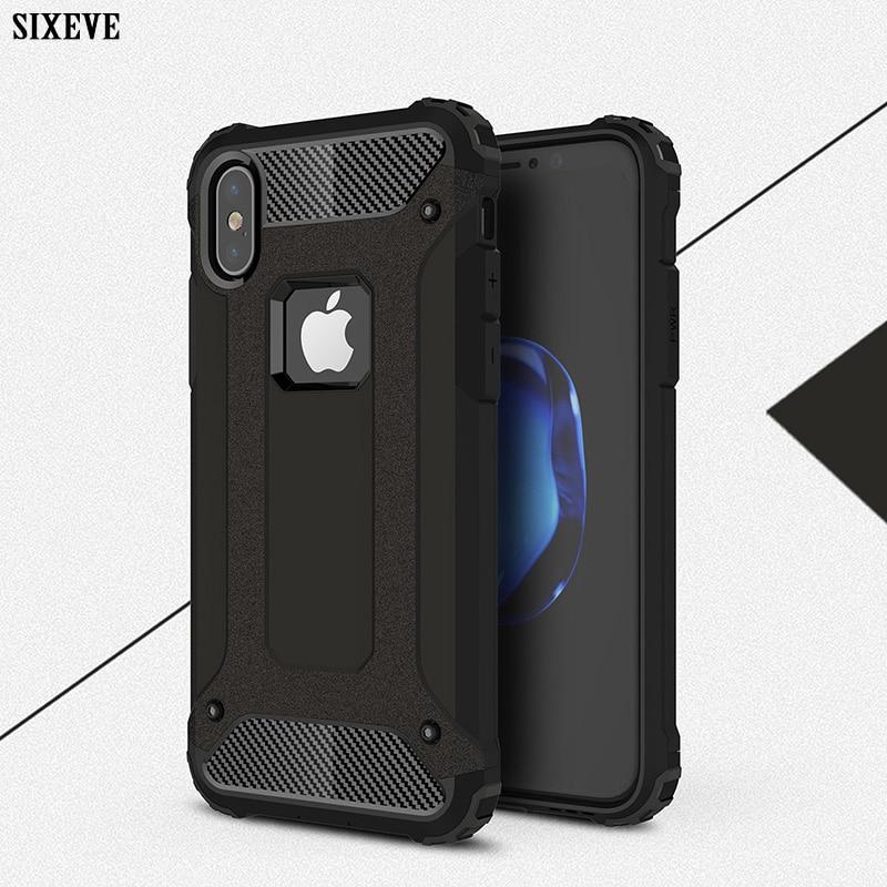 De lujo de la Caja a prueba de golpes para iPhone XS Max XR X 8 7 6 5 s 5S 6s plus 6plus 7 7 8plus blindado funda trasera del teléfono móvil carcasa paragolpes