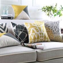 Housse de coussin décorative géométrique   Style de mode, décoration de maison, canapé, taie doreiller, coton, carré, Almofadas Cojines