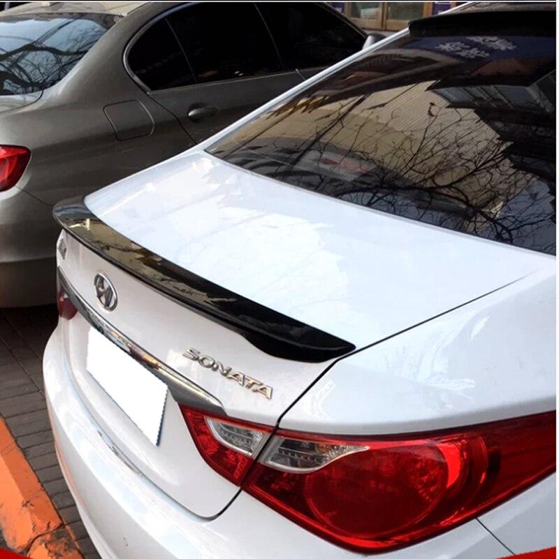 For Hyundai Sonata Car Decoration 2011 2012 2013 ABS Plastic Paint Painting Color Rear Trunk Spoiler